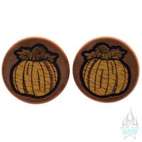 Pumpkin Wood Inlay Plugs