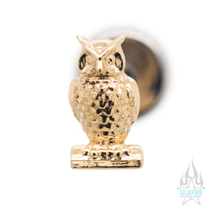 Owl in Gold - on flatback