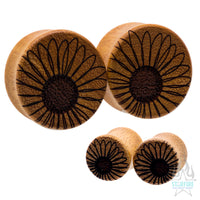 Black-Eyed Susan Wood Plugs