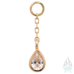 """Concorde"" Chain Charm in Gold with CZ"