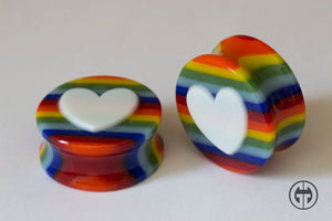 Glass Heart Plugs - Love is Love