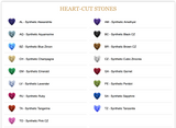 Brilliant-Cut Heart Gem Side-Set Nipple Barbells in Gold