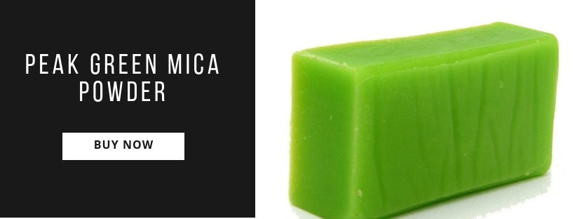 How To Use Peak Green Mica Powder In Soap Making