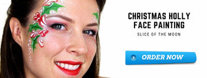 How To Make Christmas Holly Face Painting