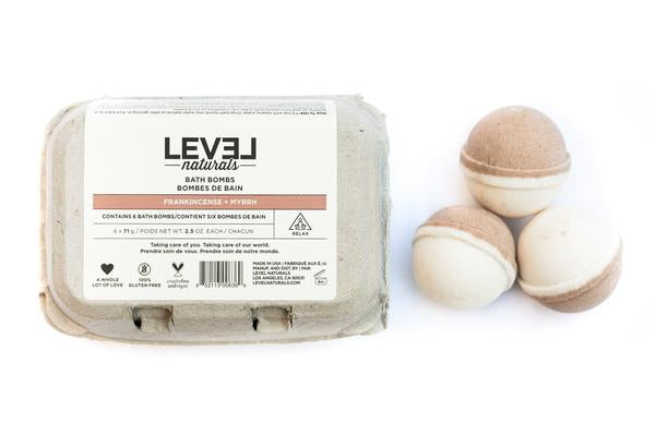 Level Naturals Frankincense + Myrrh Bath Bombs
