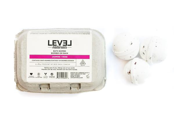 Level Naturals Jasmine + Rose Bath Bombs