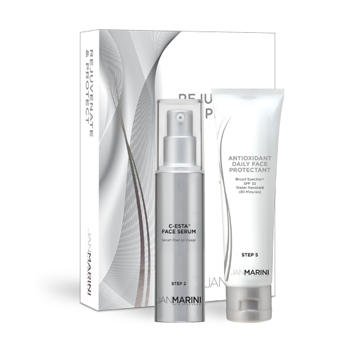 Jan Marini Rejuvenate and Protect Duo Set (Includes Antioxidant Daily Face Protectant)