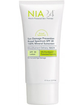 NIA24 Sun Damage Prevention Broad-Spectrum SPF 30 100% Mineral Sunscreen (2.5 fl oz / 75 ml) - Test