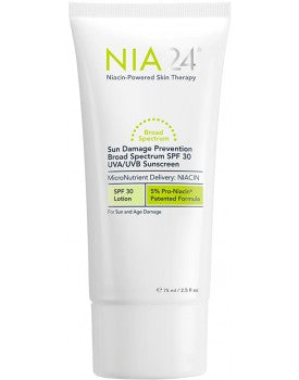 NIA24 Sun Damage Prevention UVA/UVB Sunscreen SPF 30 (2.5 fl oz/ 75 ml) - Test