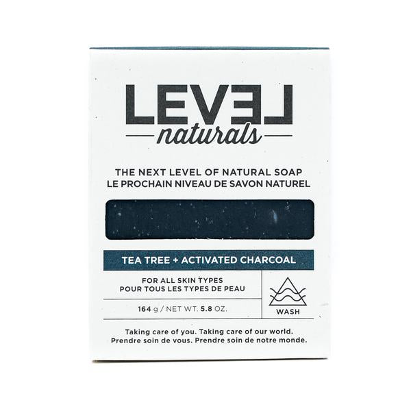 Level Naturals Tea Tree + Activated Charcoal Bar Soap