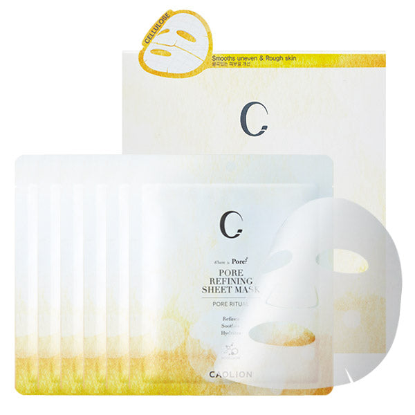 Caolion Pore Refining Sheet Mask (6 Sheets) - Test