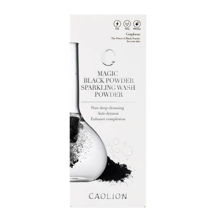 Caolion Magic Black Powder Sparkling Wash Powder (1.8 fl oz/ 53 ml)