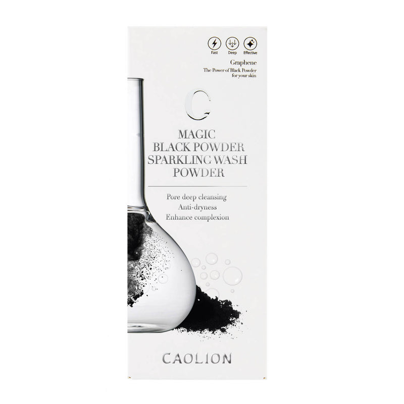 Caolion Magic Black Powder Sparkling Wash Powder (1.8 fl oz/ 53 ml) - Test