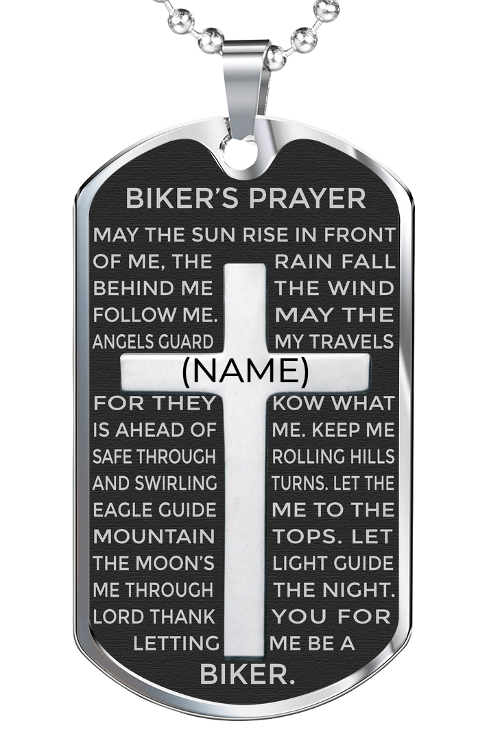 Biker's Prayer Dog Tag