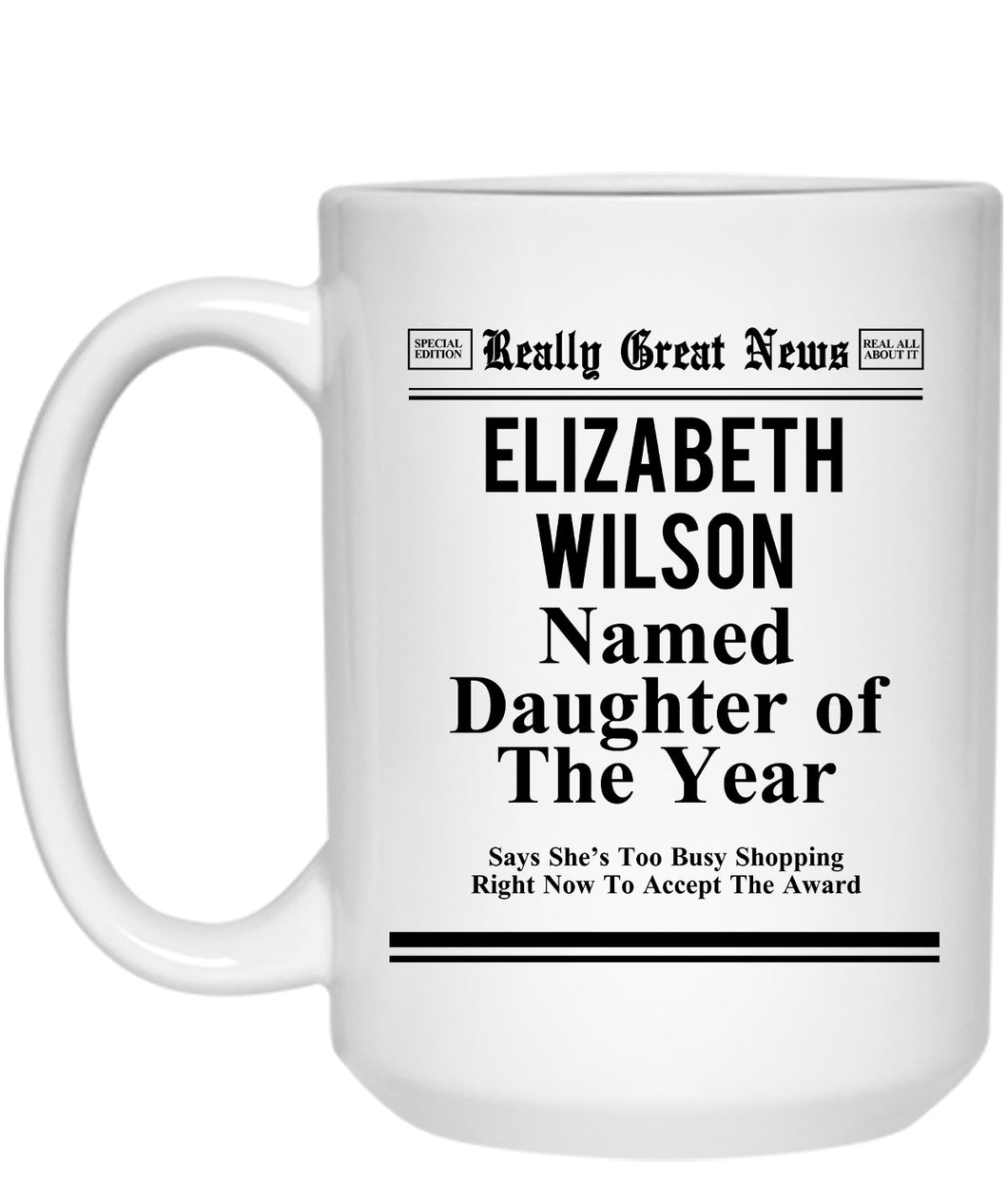Daughter of the Year Mug