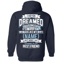 "Load image into Gallery viewer, ""Married to My Best Friend"" Personalized Hoodie (Wife)"
