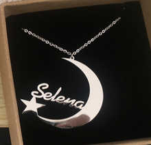 Load image into Gallery viewer, Crescent Moon Personalized Necklace