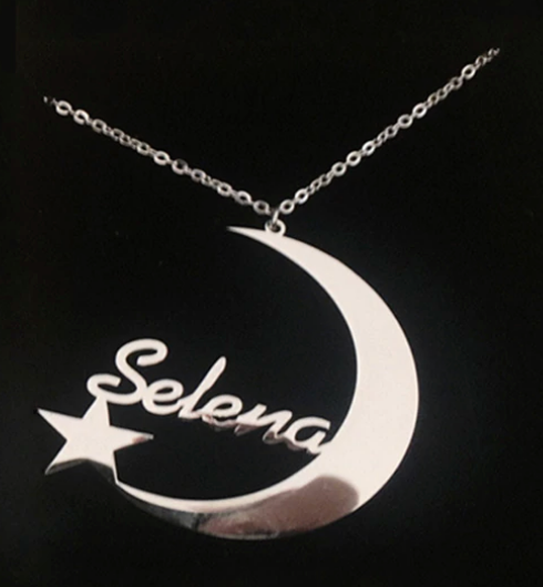 Crescent Moon Personalized Necklace