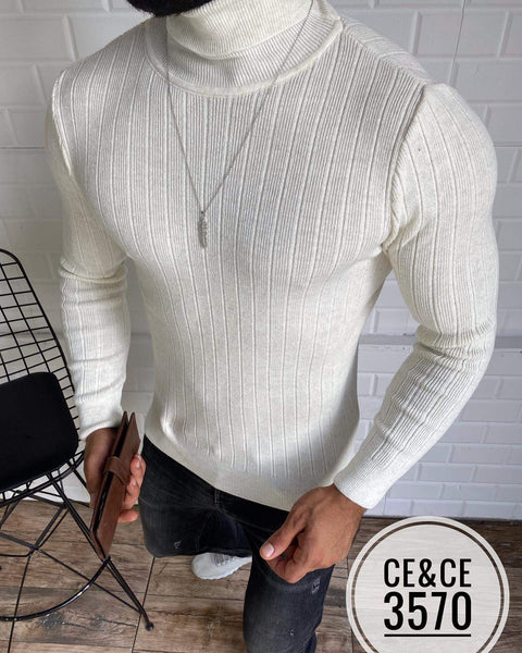 CE & CE 3458 STRIPE PAT T-NECK
