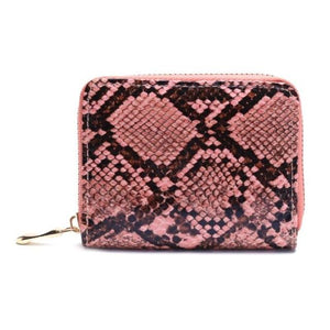 Python Zipper Wallet - Pink | HERS.BOUTIQUE