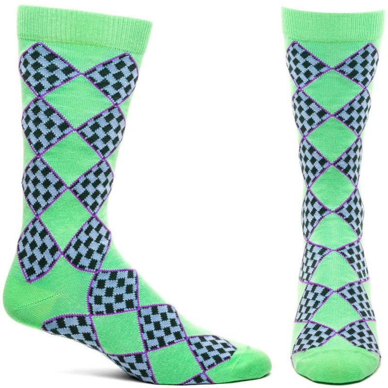 Criss Cross Sock - Green | HERS.BOUTIQUE