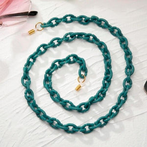 Bond Glasses & Mask Chain - Teal | HERS.BOUTIQUE