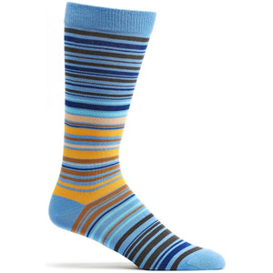 UPC Stripe Sock - Blue | HERS.BOUTIQUE