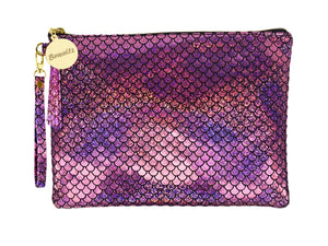 Mermaid Makeup Small Pouch - Pink -  | HERS.BOUTIQUE