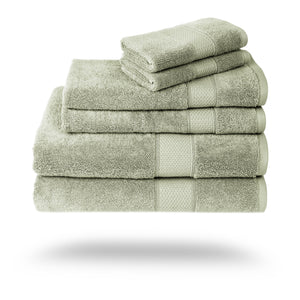 Mariabella Luxe Egyptian Cotton Towels - 3 Piece Set / Sage | HERS.BOUTIQUE