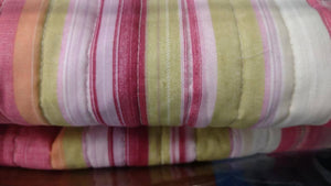 Lovely Stunning Stripes Red & Pink Reversible Quilted Coverlet Bedspread Set (DXJ101824) -  | HERS.BOUTIQUE