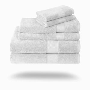 Mariabella Luxe Egyptian Cotton Towels - 3 Piece Set / White | HERS.BOUTIQUE