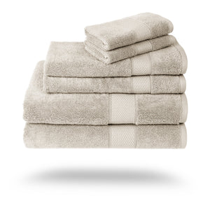 Mariabella Luxe Egyptian Cotton Towels - 3 Piece Set / Beige | HERS.BOUTIQUE