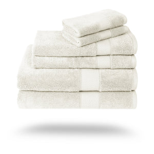 Mariabella Luxe Egyptian Cotton Towels - 3 Piece Set / Ivory | HERS.BOUTIQUE