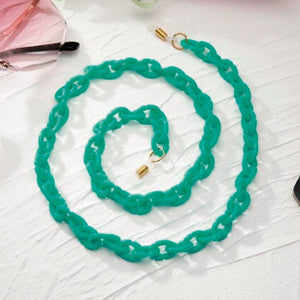 Bond Glasses & Mask Chain - Aqua | HERS.BOUTIQUE