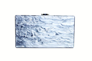 Mother of Pearl Acrylic Box Clutch -  | HERS.BOUTIQUE