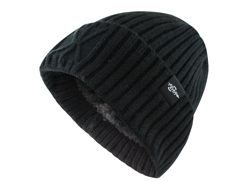 Fear0 Extreme Warm Black Cuff Winter Sport Skullies Watch Cap Beanie Hat Men Women - Black | HERS.BOUTIQUE