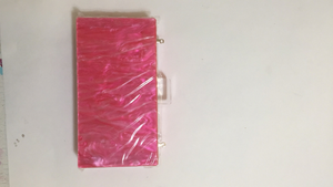 Mother of Pearl Acrylic Box Clutch - Hot Pink | HERS.BOUTIQUE