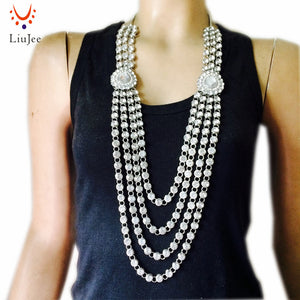 kundan Style Necklace - silver | HERS.BOUTIQUE