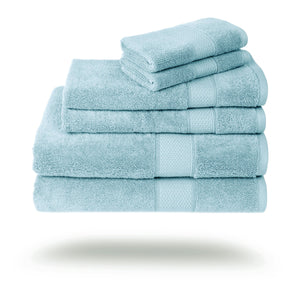 Mariabella Luxe Egyptian Cotton Towels - 3 Piece Set / Aqua | HERS.BOUTIQUE
