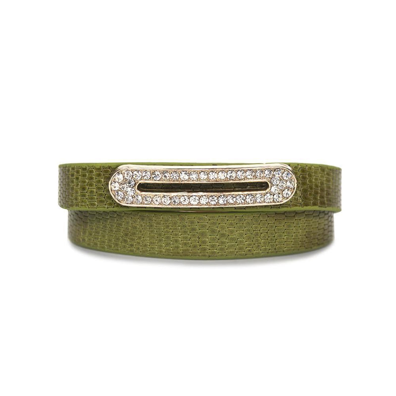 Luxe Leather Bracelet- Lime Green -  | HERS.BOUTIQUE