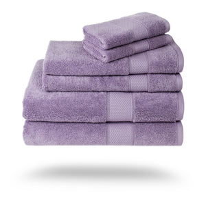 Mariabella Luxe Egyptian Cotton Towels - 3 Piece Set / Plum | HERS.BOUTIQUE