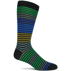 Stripy Sock - Charcoal / 10-12 | HERS.BOUTIQUE