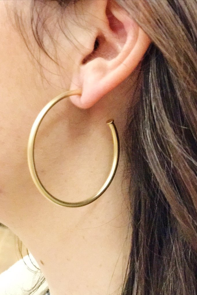 Hoops Earrings, Matte Gold - Drop Shipping Only -  | HERS.BOUTIQUE