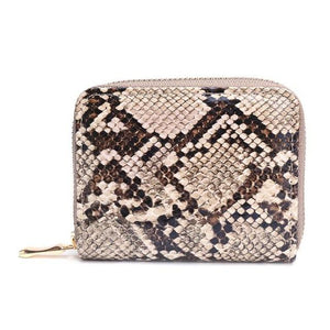 Python Zipper Wallet - Brown | HERS.BOUTIQUE