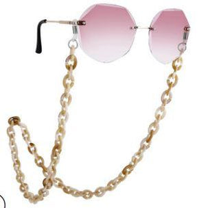 Bond Glasses & Mask Chain - Tan | HERS.BOUTIQUE
