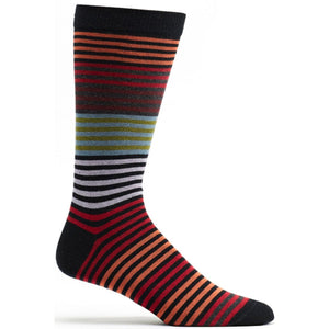 Stripy Sock - Black / OSFM | HERS.BOUTIQUE