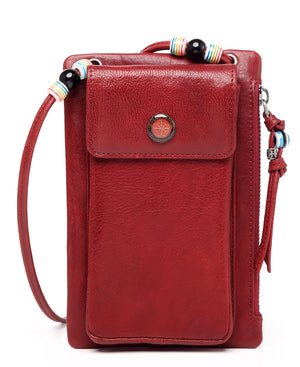 Rillet Wallet-Crossbody - RED | HERS.BOUTIQUE