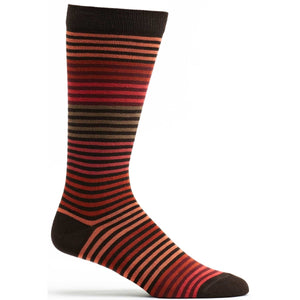 Stripy Sock - Chocolate / OSFM | HERS.BOUTIQUE