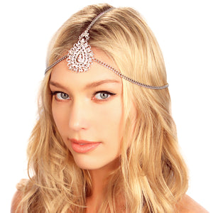 Crusted Medallion Chain Headpiece -  | HERS.BOUTIQUE