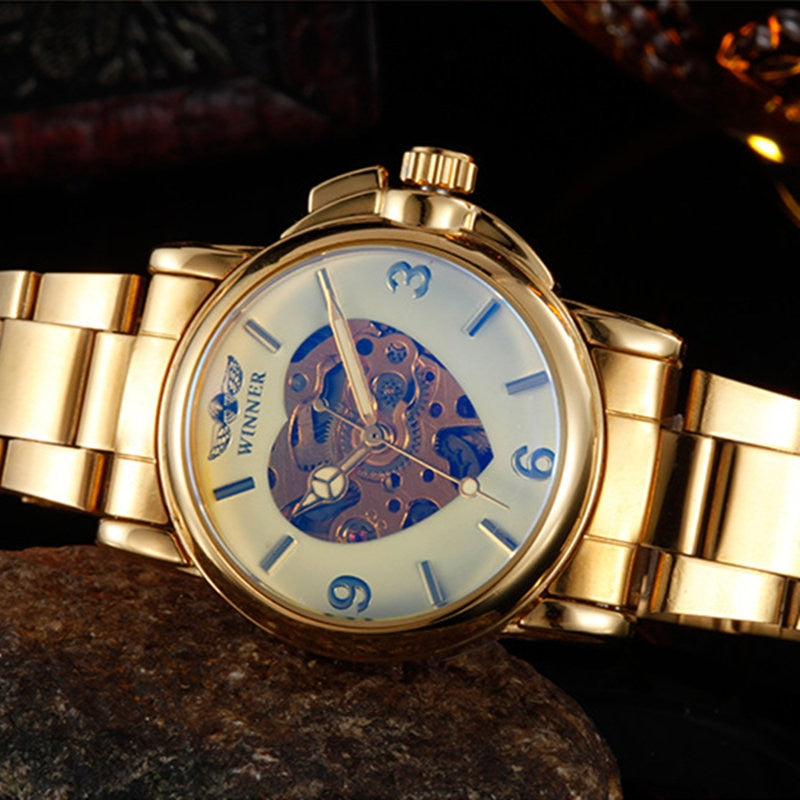 WINNER Gold Heart Watch -  | HERS.BOUTIQUE